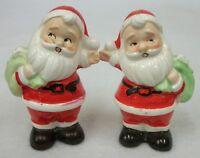 Vintage 1950s 60s Santa Claus Christmas Salt and Pepper Shaker Set - Japan