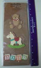 Embellish Your Story Magnet BABY TOY SET of 3  Teddy Bear Rocking Horse Baby NEW