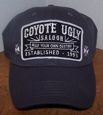 Coyote Ugly Saloon Grey Perfect Fit Hat Embroidered Patch Rule your own destiny