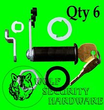 Qty 6 National CompX Key Cam Lock Cabinet 1 3/4 Length KEYED ALIKE Antique Brass