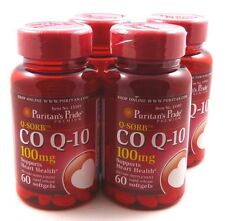 4X Coenzyme Q10 Q-SORB CO Q-10 100mg 60 Softgels Heart Health Cognitive