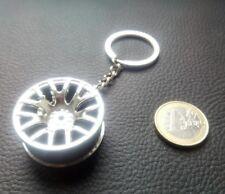 Porte clé JANTE ALU ARGENT voiture tuning logo  NEUF collector original métal