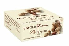 thinkThin think Thin High Protein Bars Chunky Peanut Butter 2.1 oz Bar 10 Count