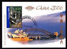2006 China Stamp & Coin Expo - CTO Flinders Lane Mini Sheet (A)