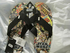 $~Disney Star Wars Empire Strikes Sandles Flip Flops~Mens Size L (10/11)~LBDLW