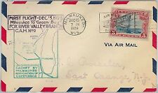 60129 - USA -  First Flight COVER: MILWAKEE - GREEN BAY - AMC: 9 W3