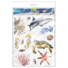 Tetradeco Vidrio Arte Tetra Deco Acuario Plástico Pegatinas tema de la vida marina