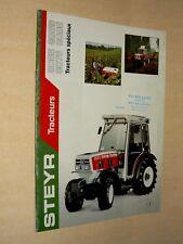 Prospectus Tracteur STEYR 8055 8095  1991  brochure traktor  trattore prospekt