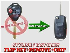NEW FLIP UNCUT FOR TOYOTA CAMRY CHIP KEY ENTRY REMOTE ENTRY FOB CONTROL KRV2
