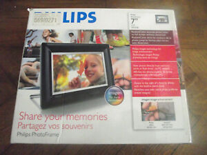 "PHILIPS 7FF3FPB 7"" DIGITAL PHOTO FRAME Alarm Clock Original USB - Boxed"