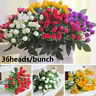 36 Heads Artificial Fake Silk Rose Flower Bud Bouquet Wedding Home Party Decor