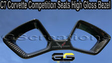 C7 Corvette Carbon Fiber Competition Seat Gloss Trim Bezel