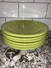 Fiestaware Lemongrass SALAD PLATE Set Lot 6 Fiesta HLC 7.25 Green Dinnerware