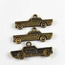 40 pcs Antiqued Bronze Zinc Alloy Car Look Charms Pendant Jewelry Findings
