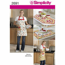 Sew & Make Simplicity 2691 SEWING PATTERN - Kitchen APRON PLACEMATS TABLE RUNNER