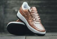 New Nike Air Force 1 SE Low Rose Gold White Shoes 877083 901 Women's Size 8.5/7Y