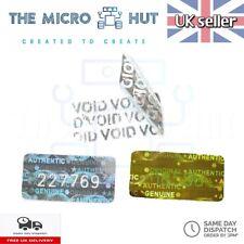 More details for warranty labels void stickers serial number security seal asset tamper proof