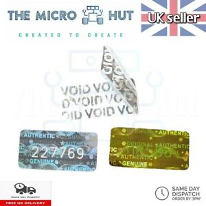 Warranty Labels Void Stickers Serial Number Security Seal Asset Tamper Proof