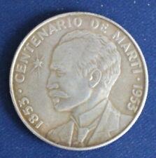 Münze Centenario De Marti 1 Pesus - Jose Martie 1953 Währung international sf