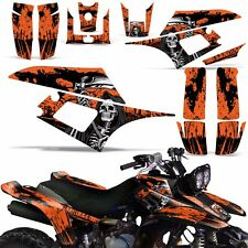 Decal Graphic Kit Yamaha Warrior350 ATV Quad Decal YFM350X Wrap 87-04 REAP ORNG
