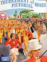 Tournament Of Roses Pasadena Rose Bowl Parade Pictorial 1940 VG 081716jhe