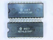 """HD74LS154P  """"Original"""" Hitachi  24P DIP TTL IC  2  pcs"""