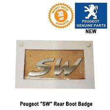 Peugeot SW Logo Badge Estate Station Wagon 206 207 Original Genuine New X1