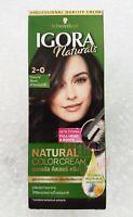 Schwarzkopf Igora Hair Dye Color Cream Permanent Professional Natural Black 2-0