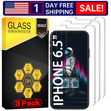 3PCS-Tempered Glass Screen Protector For iPhone 11 Pro Max XS MAX 6.5IN