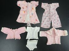 (Lot of 6) Vintage 50's, 60's Doll Clothing - Romper, 2 Shirts, Robe & Undies