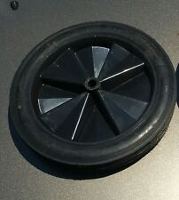 12 inch plastic wheel with rubber tire
