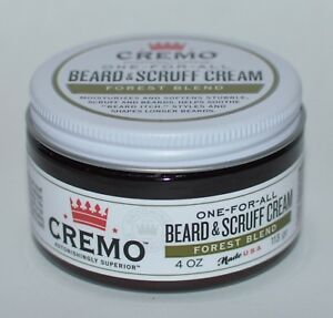 NEW CREMO ONE FOR ALL BEARD SCRUFF CREAM FOREST BLEND 4 OZ SOFTENS STYLES LONG