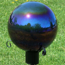 Sunnydaze Round Gazing Globe Glass/Steel Mirror Ball Stainless Steel Rainbow-10""