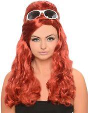 60s Red Curly Beehive Penny WIG Ladies Fancy Dress Celebrity Costume Hairspray