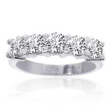 1.50 Carat Round Cut Brilliant Diamond Wedding Band 14K White Gold