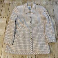 Vintage Escada Margaretha Ley Wool Blend Blazer Jacket Size.40