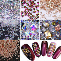 Chameleon Crystal Rhinestones Beads Charms Tips 3D Nail Art Decoration Manicure