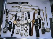 Job lot of old gents ladies quartz watches spares or repair