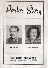 PARLOR STORY - Vintage 1947 Wilbur Theatre Booklet - Boston MA