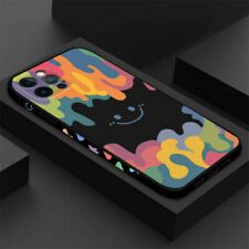 Watercolor Smiley Silicone Phone Case For iPhone 13 Pro Max 12 Xs Xr X 8 7 Cover