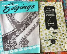 """Lot Vintage 1900s """"Handkerchief Edgings"""" Crochet Lilly Book And Other Literature"""