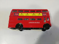 AUTOBUS BUS LONDRES LONDON DOS PISOS COCHE 11X6 CM JUGUETE