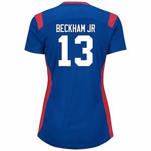 New York Giants #13 Beckham Jr NFL Women's Draft Me Jersey By Majestic