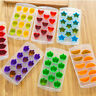Silicone Ice Cube Tray Ices Jelly Maker Mold Trays Lid Whisky Cocktail Plastic