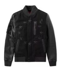 Nike Air Destroyer Leather & Wool With Black Stars Jacket 802644-010 Sz M - NWT