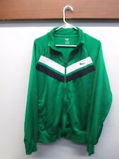Nike Men's Athletic Wear Metallic Green Running Track Jacket XL