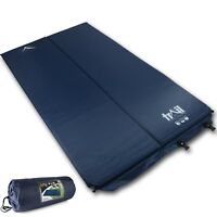 Double Self-Inflating Camping Roll Mat Camp Bed Inflatable Sleeping 2.5cm