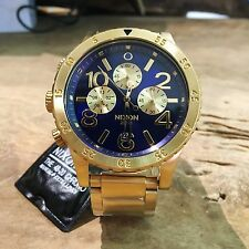 Nixon 48-20 Chrono Blue Gold Wrist Watch
