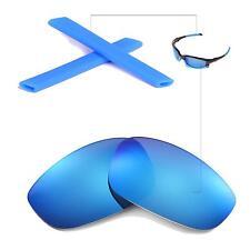 New Walleva Polarized Ice Blue Lenses And Blue Earsocks 4 Oakley Split Jacket