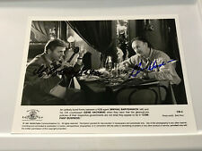Gene Hackman and Mikhail Baryshnikov in Company Business. Dual signatures 8x10